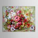 ručně malované olejomalba květinová zátiší váza květ s napnuté rámem