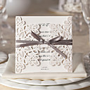 Elegant Flora Design White Wedding Invitation-Set Of 10/20/50