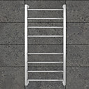 80W Towel Warmer Mirror Polished Stainless Steel Drying Rack Wall Mount