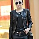 Women's  Leather Short Slim jacket Translation