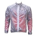 Realtoo® Unisex Windproof And Waterproof  White Transparent Rain Cycling Jackets