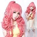 cerniera party girl luka stile parrucca rosa lolita dolce capelli ricci