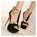 Women's Shoes Peep Toe Stiletto Heel Flocking Sandals Shoes More Colors available
