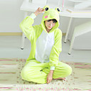 Lovely Frog Green Polar Fleece Unisex kigurumi pyjama Sarjakuva Yöpuvut Animal Halloween Costume