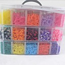 15000pcs Colorful DIY Rainbow Color Loom Style Silicone Band Bracelets,12 S-clips, 1 Looms ,1 Hook+1Box