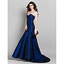Formal Evening Dress - Royal Blue Plus Sizes Trumpet/Mermaid Sweetheart Court Train Taffeta