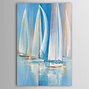 IARTS®Oil Painting Landscape Sailing Boat on The Sea  Art with Stretched Frame Hand-Painted Canvas