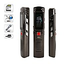 8GB Digital Voice Recorders USB Digital Voice Recorder with MP3 Function Silver