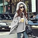 elegante capucha asim manga del cabo suéter flojo de las mujeres