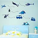 stickers muraux autocollants de mur, les enfants avion auto kidsroom pvc décor à la maison stickers muraux
