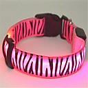 Katte / Hunde Krave LED Lys / Zebra Rød / Hvid / Grøn / Blå / Pink / Gul Nylon