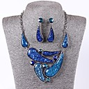 Women's Europe Vintage Glitter Resin Rhinestone Jewelry Set(Including Necklaces Earrings)