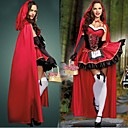Seductive Little Red Riding Hood Red Terylene Halloween Cosplay Costume