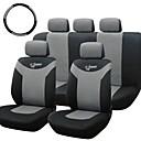 tirol asiento de coche universal, 10 piezas / set cubierta trasera frente gris para sedanes crossovers SUV