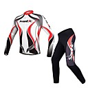 Santic Men's Cycling Jersey Long Sleeve + Pants/Long Tights Fall and Winter Style Fashion Long Sleeve
