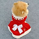 Elegant Red Christmas Style Red Color Fleeces Dress for Pets Dogs (Assorted Sizes)