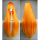 Long Straight Cosplay Party Wig with Full Bangs Synthetic Hair