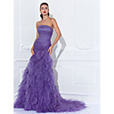 Prom/Formal Evening Dress - Regency Plus Sizes Trumpet/Mermaid Strapless Court Train Tulle