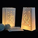 Heart Cut-out Paper Luminary Paper Lamp (Set of 4)