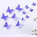 diy 3d etiqueta engomada de la pared del pvc pegatinas mariposa pegatinas mágicas 12 piezas / juego