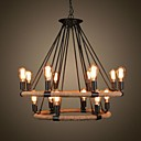 Retro 14 Lamp Hemp Rope Chandelier Retro Country Style