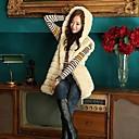Fur Vests Fashion Hooded Sleeveless Fur Vest