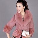 chaqueta de piel falsa de manga larga abrigos de piel de moda (más colores)