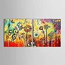 ručně malované olejomalba květinové ptáci a květiny s napnutou sady rámců 2
