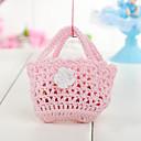 favör väska rosa baby gynnar påse (uppsättning av 6)