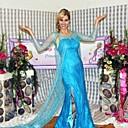 Pretty Frozen Elsa Princess Blue Sequin & Chiffon Cosplay Costume