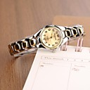 kvinners moteriktig stil legering analog kvarts armbånd watch (assorterte farger)
