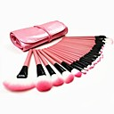 Hot Pink Professional 32Pcs Cosmetic Makeup Brush Brushes Set Kit Tool Super Soft Pouch Bag Case