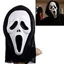 Valkoinen Ghost Mask with Head Cover Scream kepponen Scary Cosplay Hupituotteet Halloween Costume Party