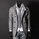 Men's Long Sleeve Jacket , Cotton/Cotton Blend Casual Pure