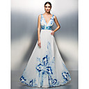TS Couture® Formal Evening / Prom / Military Ball Dress - Print Plus Sizes / Petite A-line / Princess V-neck Floor-length Chiffon