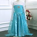 Menina de Vestido Outono / Primavera Poliéster Azul