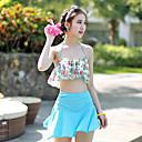 Ymeishan Women's Sweet Girl Flowers Style Push-up Swim Dress Bikini Swimming Suit