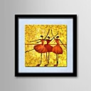 Oil Painting Abstract People Hand-Painted Natural Linen Solid Wood Frame Frameless Paintings