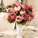 8 Heads Modern Style Silk Cloth Simulation Peony Flowers Multicolor Optional