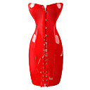 Red PVC Strapless Bodycon Dress Sexy Unifrom