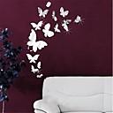 stickers murali specchio adesivi murali, 14pcs diy Adesivi da parete specchio farfalla acriliche