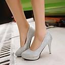 Scarpe Donna - Scarpe col tacco - Formale - Tacchi / Plateau / A punta - A stiletto - Finta pelle - Rosso / Argento / Dorato