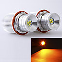 4Leds Cree 20W  Angel Eyes LED Marker Yellow Color for E39