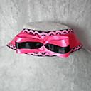 elegante negro clásico hecho a mano con collar de lolita rosa