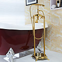 Bathtub Faucet - Antique - Handshower Included / Floor Standing - Brass (Ti-PVD)