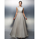 TS Couture Sheath/Column Mother of the Bride Dress - Silver Floor-length Sleeveless Chiffon