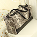 Handcee® Best Seller Woman PU Snake Pattern Big Bag
