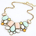 MISSING U Vintage / Party Alloy / Resin Statement Necklace