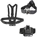Straps / Accessory Kit 3 in 1 For Gopro Hero 1 / Gopro Hero 2 / Gopro Hero 3 / Gopro 3/2/1 / All / Gopro Hero 4 / Gopro Hero 4 Silver ,