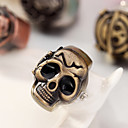 Skull Punk Gothic Style Finger Ring Watches Quartz Watch Finger Decoration (Random Color)